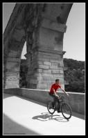 Trzydziesty siódmy rower - prowansalski, Pont du Gard, Prowansja 2012